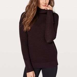 Lululemon Warm & Restore Black Cherry Sweater